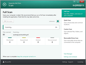 Kaspersky Antivirus Screenshot