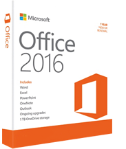 Microsoft Office 2016 Professional box